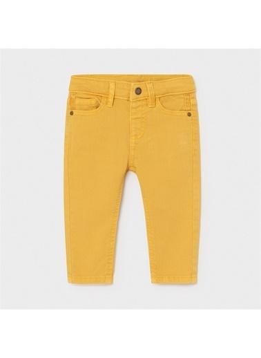 Mayoral Mayoral Erkek Bebek Slim Fit Pantolon Kırmızı 20873 Sarı